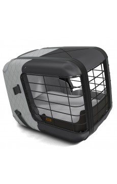 Hundebox Caree Cool Grey (bis zu 15 Kg)